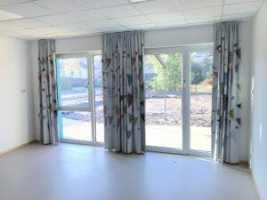 Lichtdichte Vorhanganlage in Kita Tischlerei Berwing